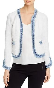Nic+Zoe Petites Bright Side Fringed Knit Jacket