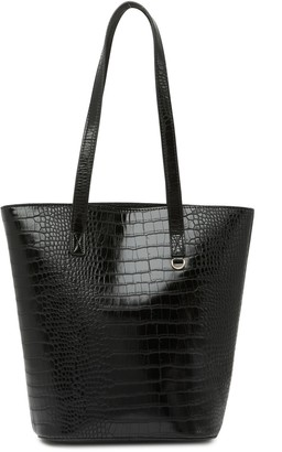 Most Wanted Design by Carlos Souza Crocodile Embossed Tote Bag