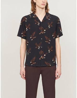 The Kooples Eagle-print woven shirt