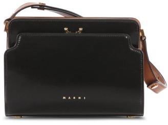 Marni Trunk Reverse Small Leather Cross-body Bag - Black
