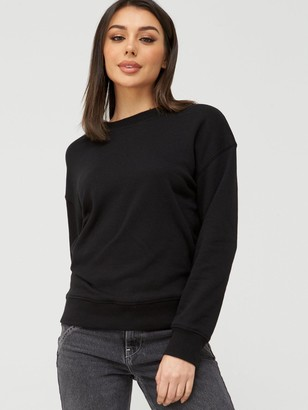 Very The Essential Oversized Basic Sweat - Black
