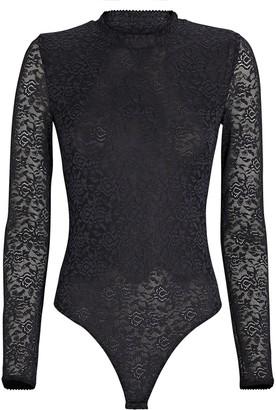 JONATHAN SIMKHAI STANDARD Lace Long Sleeve Bodysuit