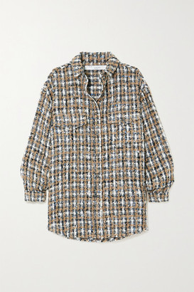 IRO Bleoma Checked Boucle-tweed Jacket - Gray
