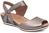 Dansko Vera Metallic Nappa Leather Banded Ankle Strap Wedge Sandals