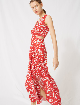 Maje Red dress with cutouts