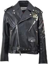 Valentino Embroidered Biker Jacket