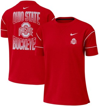 Nike Women's Scarlet Ohio State Buckeyes Double Knit Fashion Performance T-Shirt