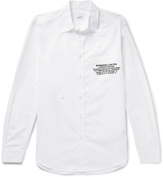 Burberry Slim-Fit Printed Cotton-Poplin Shirt