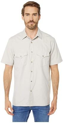 Filson Short Sleeve Snap Front Shirt (Bluestone) Men's Clothing