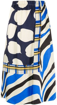 Marni Mixed Print Skirt