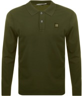 C.P. Company Long Sleeved Polo T Shirt Green