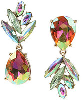 Betsey Johnson Pineapple Mismatched Drop Statement Earrings