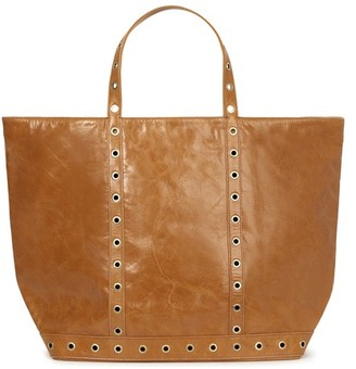 Vanessa Bruno Large Crinkled Leather Cabas Tote Bag