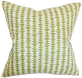 One Kings Lane Jiri 18x18 Pillow, Green