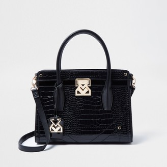 River Island Womens Rue Saint Dominique Black tote handbag