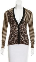 Tory Burch Abstract Print Knit Cardigan