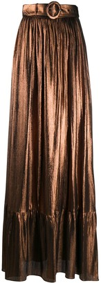 retrofete Belted Maxi Skirt
