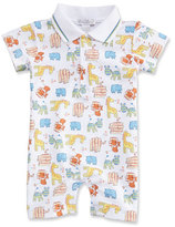 Kissy Kissy Born to Run Animal Printed Collared Shortall, Yellow, Size 3-18 Months