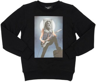 Neil Barrett Hybrid Print Cotton Sweatshirt