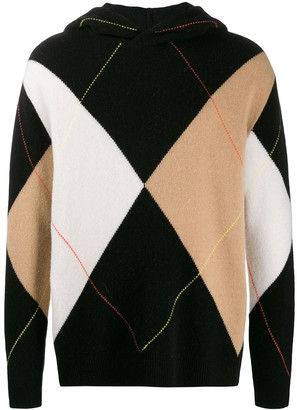 Pringle Reissued argyle hooded jumper