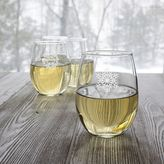 Cathy's Concepts Cathys concepts 4-pc. Snowflake Stemless Wine Glass Set