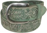 Roper Women's Handtooled Leather Belt with Removable Buckle, Xlarge