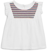 Bloomie's Girls' Embroidered Flutter Top, Little Kid - 100% Exclusive