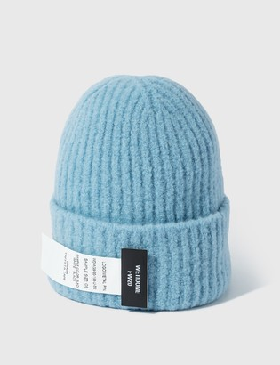 we11done Blue Felted Knit Long Beanie