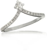 Forzieri 0.12 ctw Diamond 18K White Gold Solitaire Ring