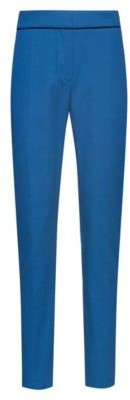 HUGO Slim-leg cropped trousers in a structured cotton blend