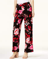 INC International Concepts Floral-Print Soft Pants, Created for Macy's