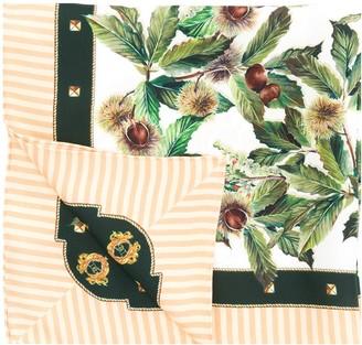 Dolce & Gabbana Acorn Print Silk Scarf