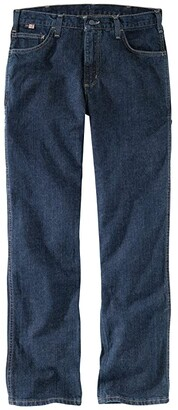 Carhartt Big Tall Flame-Resistant Rugged Relaxed Fit Flex Jeans (Deep Indigo Wash) Men's Jeans