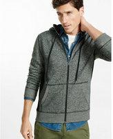 Express waffle detailed zip-up hoodie