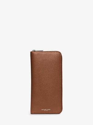 Michael Kors Harrison Leather Zip-Around Wallet