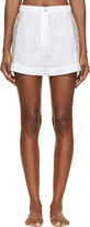 Raphaëlla Riboud White Cotton and Lace Fred Shorts