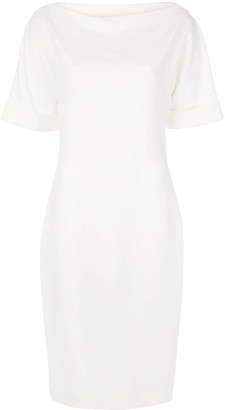 Badgley Mischka Square Back Mid-Length Dress