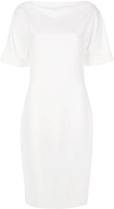 Badgley Mischka Square Back Mid-Length Dress