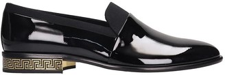 Versace Loafers In Black Patent Leather
