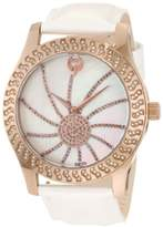 Brillier Women's 03-52424-11 Kalypso Bronze-Plated Orange Leather Watch
