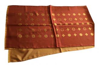 Louis Vuitton Orange Silk Scarves