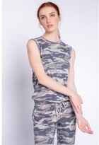 Thumbnail for your product : PJ Salvage Camo Cool Camo Tank, Moon Grey X-Large