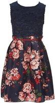 Teeze Me Girls Big Girls 7-16 Lace Floral-Print Dress