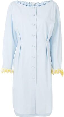 DELPOZO Embellished-Cuff Shirt Dress