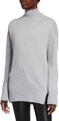 Vince Turtleneck Double Slit Cashmere Sweater