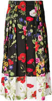 Blugirl cropped floral palazzo pants