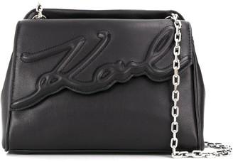 Karl Lagerfeld Paris K/Signature soft medium shoulder bag