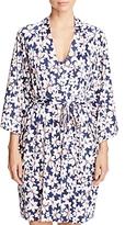 Oscar de la Renta Floral Print Wrap Robe