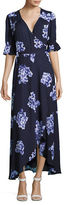 Imnyc Isaac Mizrahi Floral Midi Wrap Dress