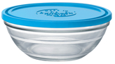 Duralex Lys Stackable Clear Bowl with Lid (1.5 QT)